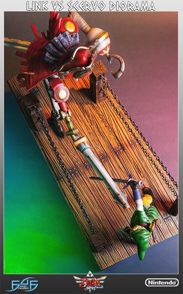 The-Legend-of-Zelda-Skyward-Sword-Link-vs-Scervo-Diorama-11