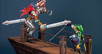 Diorama Link vs Scervo – The Legend of Zelda: Skyward Sword