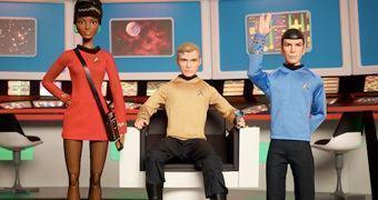 Bonecas Barbie Star Trek 50 Anos: Kirk, Spock e Uhura