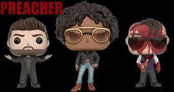 Preacher Pop! com Tulip, Jesse Custer e Cassidy Sangrento