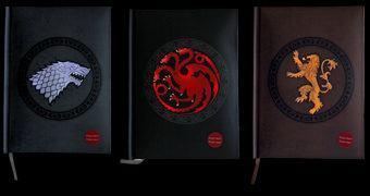 Cadernos Game of Thrones com Capas Iluminadas: Stark, Lannister e Targaryen