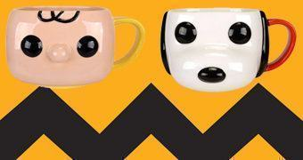 Canecas Funko Pop! Peanuts: Charlie Brown e Snoopy