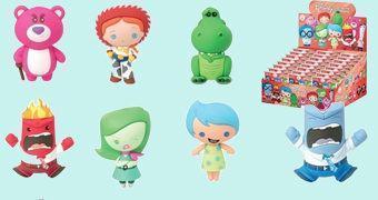 Chaveiros Disney/Pixar 3D Monogram Figural Keyrings Série 6