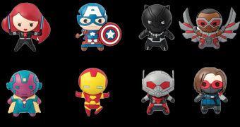 Chaveiros Marvel 3D Monogram Figural Keyrings Série 6: Capitão América Guerra Civil