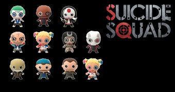 Chaveiros DC Comics 3D Monogram Figural Keyrings: Esquadrão Suicida