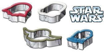 Cortadores de Cookies Star Wars: Darth Vader, Stormtrooper, Yoda e R2-D2