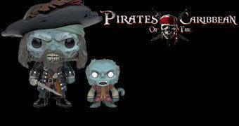 Bonecos Pop! Piratas do Caribe: Capitão Barbossa e Macaco Jack Amaldiçoados