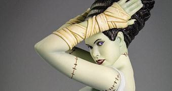 Estátua Death Becomes Her – Noiva do Frankenstein Estilo Pin-Up