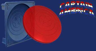 Forma de Gelatina Escudo do Capitão América