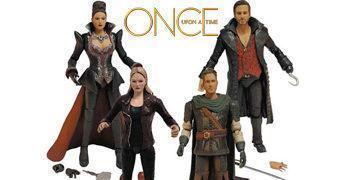Action Figures da Série Once Upon a Time: Hook, Emma Swan, Regina e Robin Hood