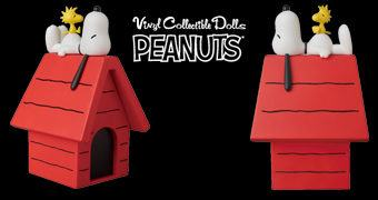 Snoopy e Woodstock VCD na Casinha de Cachorro – Figura Peanuts Medicom Toy