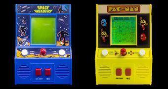 Space Invaders e Pac-Man Mini Arcade Games