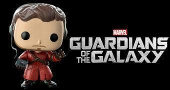 Boneco Pop! Guardiões da Galáxia: Star-Lord com Walkman e Mixtape