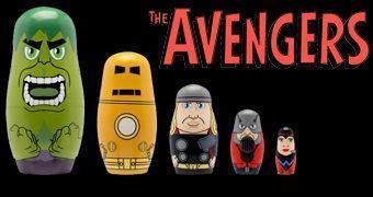 Bonecas Russas Matryoshkas: Os Fundadores dos Avengers (Vingadores)