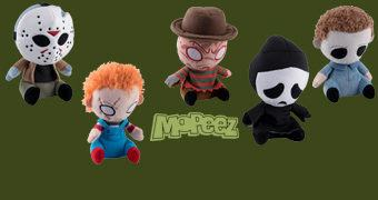 Horror Mopeez Bonecos de Pelúcia Deprimidos: Chucky, Jason, Ghost Face, Michael Myers e Freddy Krueger