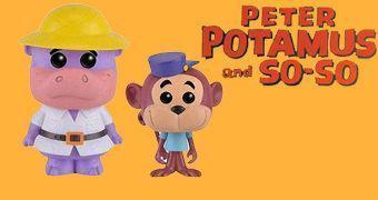 Bonecos Pop! Hanna Barbera: Peter Potamus e Macaco Tico-Mico