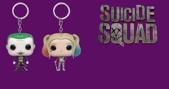 Chaveiros Funko Pocket Pop! Esquadrão Suicida: Coringa e Harley Quinn