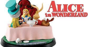 Alice no País das Maravilhas Chá de Desaniversário – Estátua Diorama de Luxo