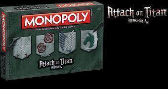 Attack on Titan Monopoly Jogo de Tabuleiro