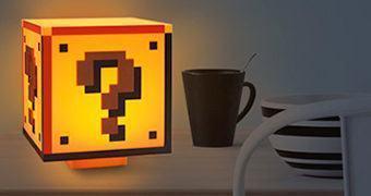Luminária Bloco de Interrogação do Super Mario!