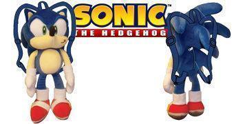 Mochila de Pelúcia Sonic the Hedgehog