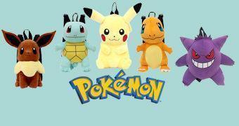Mochilas de Pelúcia Pokémon: Pikachu, Squirtle, Charmander, Gengar e Evee