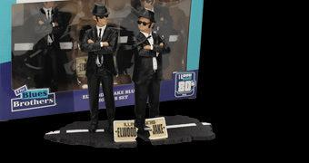 Figuras The Blues Brothers com os Irmãos Jake & Elwood