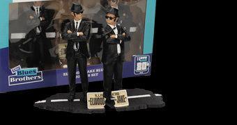 Figuras The Blues Brothers com os Irmãos Jake & Elwood