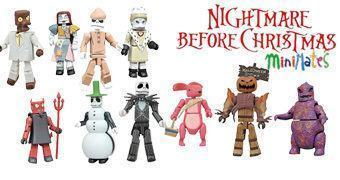 Nightmare Before Christmas Minimates Séries 3 e 4 – Mini-Figuras O Estranho Mundo de Jack (Tim Burton)