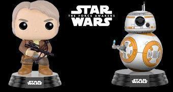Star Wars O Despertar da Força Pop! SDCC: Han Solo com Besta e Thumbs Up BB-8