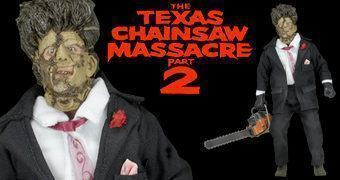 Action Figures Retro 30 Anos de O Massacre da Serra Elétrica 2: Leatherface e Chop Top
