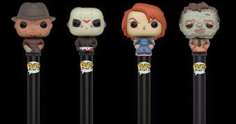 Canetas Funko Pop! Pen Horror: Freddy Kruger, Jason Voorhees, Chucky e Leatherface