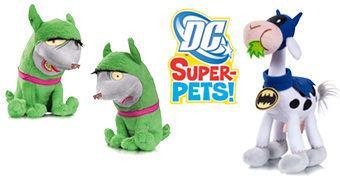 Super Bichos de Pelúcia DC Comics: Bat-Vaca (Damian Wayne) e Crackers & Giggles (Harley Quinn)