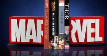 Marvel Logo Bookends (Apoio de Livros)