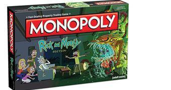 Rick and Morty Monopoly – Jogo de Tabuleiro do Desenho Animado Adulto