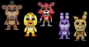 Five Nights at Freddy's Pop! – Bonecos Funko da Série de Videogames