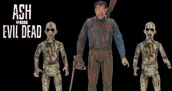 "Ash vs Evil Dead Action Figures: ""Bloody Ash vs Demon Spawn"""