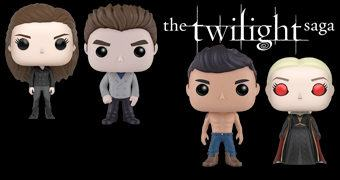 Bonecos Pop! Crepúsculo (Twilight) com Bella, Edward Cullen, Jacob e Jane Volturi