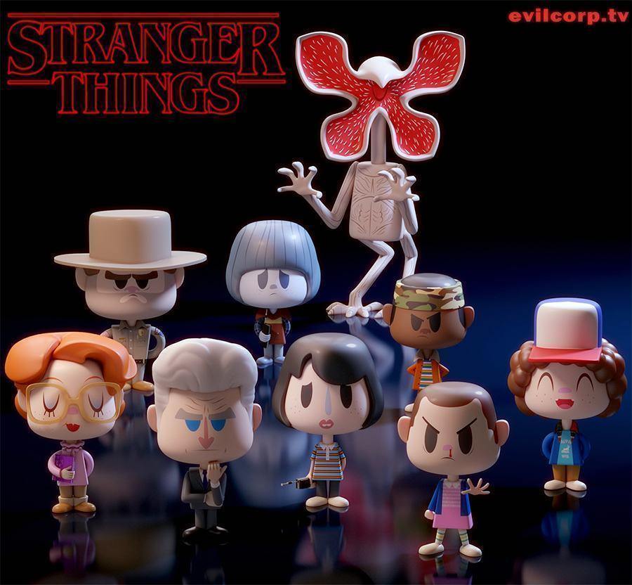 Stranger Things Bonecos De Vinil Evil Vinyl Conceitos
