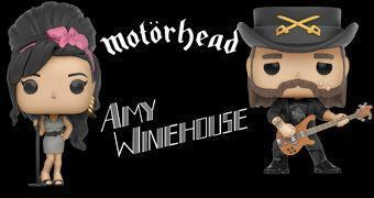 Bonecos Funko Pop! Rocks: Amy Winehouse e Lemmy Kilmister (Motörhead)