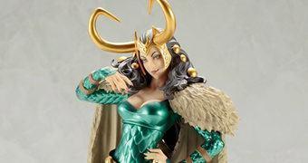 Estátua Lady Loki no Estilo Bishoujo (Menina Bonita) – Ilustração de Shunya Yamashita