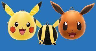 Mochilas Moldadas Pokémon 3D: Pikachu e Eevee