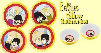 Pratos de Cerâmica Beatles Yellow Submarine