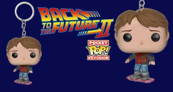 Chaveiro Funko Pocket Pop! Back to the Future: Marty McFly no Hoverboard