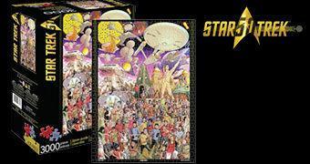 Quebra-Cabeça Star Trek 50th Anniversary com 3.000 Peças e Itens de Todos os 80 Episódios da Série Clássica