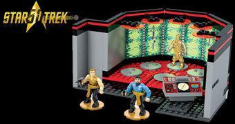 Star Trek 50 Anos: Mega Bloks Transporter Room Playset (Blocos de Montar Estilo LEGO)