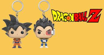 Chaveiros Chaveiros Funko Pocket Pop! Dragon Ball: Goku e Vegeta