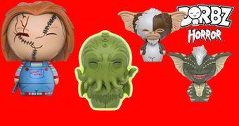 Bonecos Dorbz Horror 2: Cthulhu, Chucky, Gizmo e Stripe