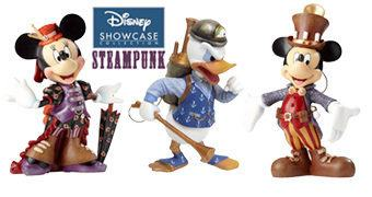 Disney Showcase Steampunk: Mickey, Minnie e Pato Donald