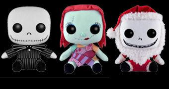 The Nightmare Before Christmas Pop! Plush – Bonecos de Pelúcia Funko de O Estranho Mundo de Jack (Tim Burton)